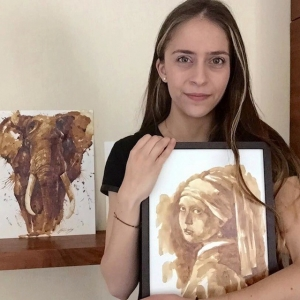 Дивные кофейные картины с эффектом сепии от Марии Аристиду