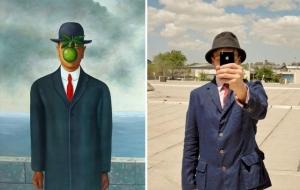 Современные римейки на 20 классических картин