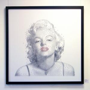 Точечные портреты из тысячи гвоздей от художника Дэвида Фостера (David Foster)