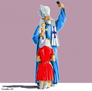 Религиозные селфи в сатирических иллюстрациях Гюндуза Агаева