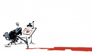 """Перо сильнее меча: карикатуристы всего мира отдают дань памяти жертвам """"Шарли Эбдо"""""""
