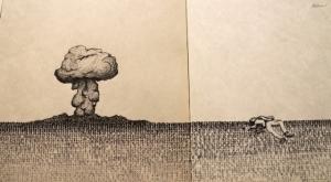 Иллюстрации на старой печатной машинке от Пабло Гамбоа Сантоса (Pablo Gamboa Santos)
