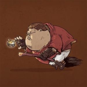 Супергерои-толстяки - 50 весёлых иллюстраций от Алекса Солиса