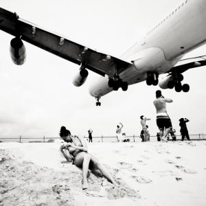 Безумная посадка самолётов на острове Сен-Мартен