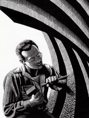 Мужчины за работой в рисунках Дугласа Смита