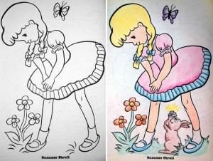 Не давайте взрослым книжки-раскраски