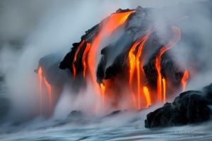 25 горячих фотографий: раскалённая лава в снимках Брюса Омори