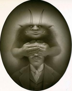 Ретро портреты монстров в картинах Трэвиса Луи