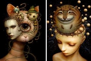 Причудливые работы японского художника Наото Хаттори