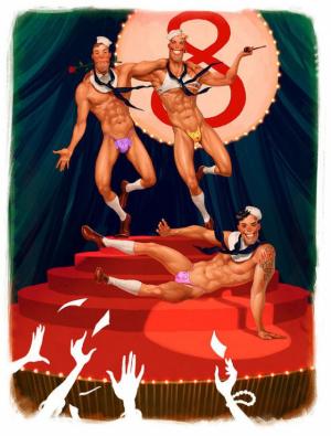 Иллюстрации с яркими персонажами Вальдемара Казака