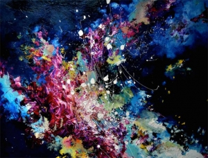 Девушка с синестезией рисует музыку, которую слышит