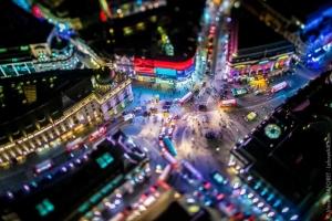Футуристический Лондон в ночных аэрофотографиях