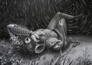 Психоделический киберпанк в иллюстрациях Лены Клюкиной