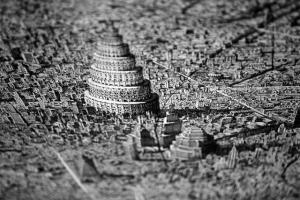Потрясающе детализированные вымышленные городские пейзажи
