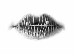 Сюрреалистичные губы в карандашных рисунках Кристо Дагорова