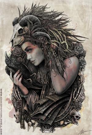 Демонические иллюстрации Кристофера Ловелла