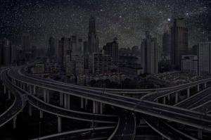 Ночные города без электричества в фотографиях Тьерри Коэна