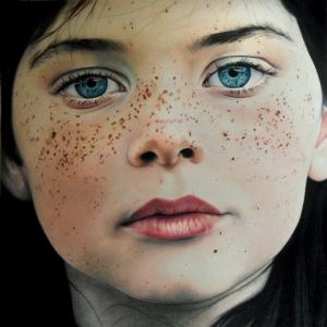 Удивительный портрет цветными карандашами от Эми Робинс