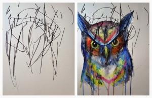 Мать-художница преобразует детские работы своей дочери